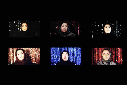 Newsha Tavakolian - <i>Listen</i>, 2019, Mullhouse, France. 6 Channel Video.