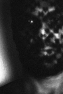 PAT – Unseen, unheard, unexplained - PAT Untitled (Man in Mask, 1), 2007. Gelatin silver print, 19.5 x 13 in (image size), ed. of 7.