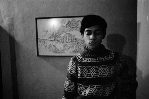 Pablo Bartholomew – Outside In - My Brother Robin, New Delhi, 1975. Gelatin silver print, edition of 10 (+3 AP), 16 x 24 in.