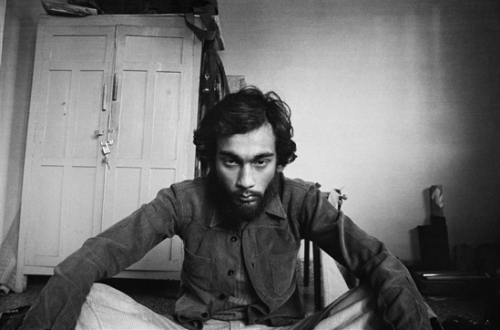Pablo Bartholomew – Outside In - Self Portrait After a Trippy Night the Morning After in My Room, New Delhi, 1976. Gelatin silver print, edition of 10 (+3 AP), 16 x 24 in.