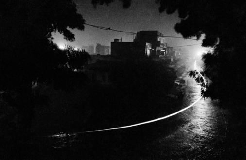 Pablo Bartholomew – Outside In - View From My Balcony, New Delhi, 1976. Gelatin silver print, edition of 10 (+3 AP), 16 x 24 in.