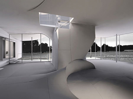 Preston Scott Cohen – Toroidal Architecture - Torus' - Wolf House (No. 1), 1999. Digital Duraflex print, edition of 6 (+2 AP), 24 x 32 in.