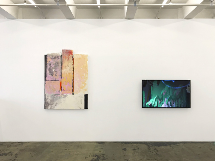 Pleasure in Precariousness – Sarah Faux, Haley Josephs, RJ Messineo, Wang Chen - Installation view: Rose Window, Rabbit Hole.