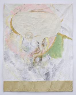 Róza El-Hassan – Labyrinth of Rebellion - Gedächtnißschwund im Fruhling, 2008. Pencil on canvas. 56 x 73 in.