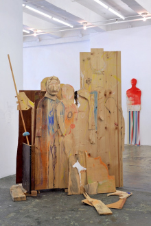 Róza El-Hassan – Labyrinth of Rebellion - How to Proceed, 2017. Wood and mixed media. 210 x 179 x 57 cm