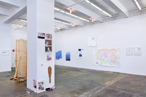Róza El-Hassan – Labyrinth of Rebellion - Installation view: south & west walls