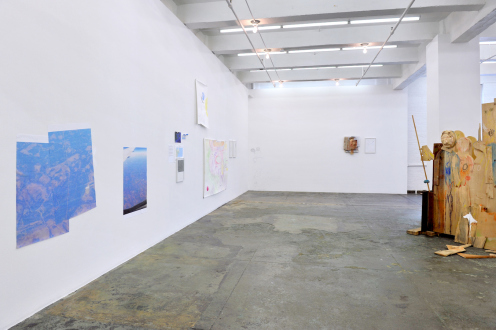 Róza El-Hassan – Labyrinth of Rebellion - Installation view: west and north walls