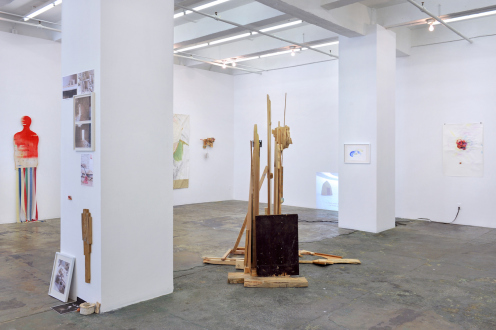 Róza El-Hassan – Labyrinth of Rebellion - Installation view: east and south walls