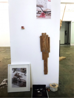 Róza El-Hassan – Labyrinth of Rebellion - Recovery, 2018. Photographs and objects