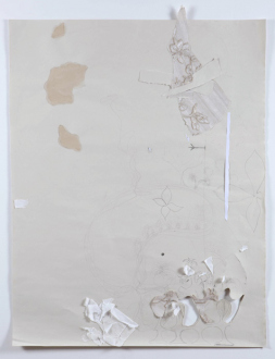 Roza-El-Hassan - Breeze 7, Groundplans for Shelter, 2014. Work on paper, 43.5 x 32.5 in.