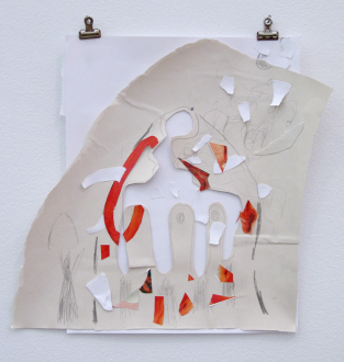 Roza-El-Hassan - Breeze 7, Groundplans for Shelter, 2014. Work on paper, 14 x 15 in.