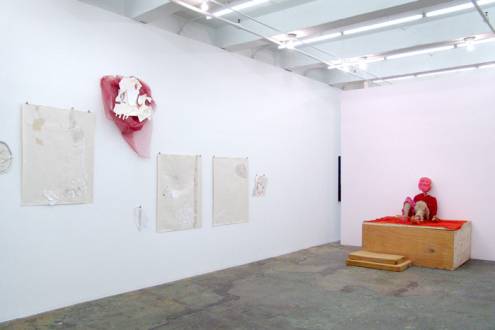 Roza-El-Hassan - Installation view, west and north wall.
