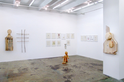Roza-El-Hassan - Installation view, east and south wall.