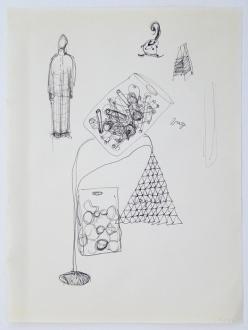 Roza-El-Hassan - Soumenlinna Series, 1999. Work on paper, 13.75 x 9.75 in.