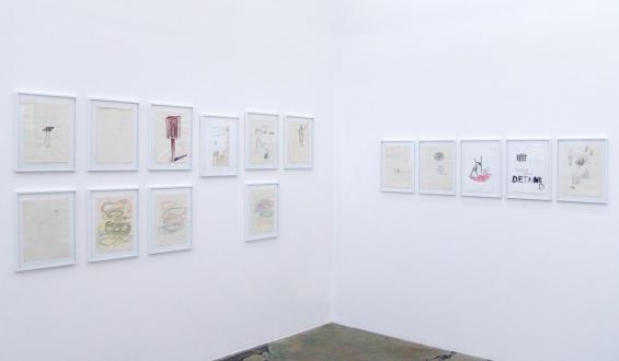 Roza-El-Hassan - Soumenlinna Series, 1999. 15 works on paper (installation view).