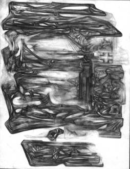 15 Years Thomas Erben - Raha Raissnia, Untitled, 2003. Graphite on paper, 8.5 x 11 in.