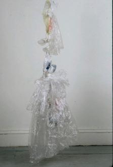 Animate Matter – Pia Maria Martin, Dona Nelson, Richard Staub, Rose Wylie - Richard Staub: African Bride, 1996. Plastic, thread, 69 x 18 x 16 in.