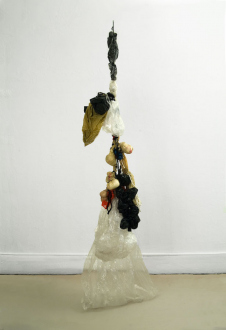 Animate Matter – Pia Maria Martin, Dona Nelson, Richard Staub, Rose Wylie - Richard Staub: Quilted Bag, 2007/2009. Mixed media, 12 ft. high, other dimensions variable.