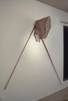Nylon Mesh - <i>N.T.</i> spring 1977 (original piece/documentation) Nylon mesh and wire mesh, 5 ft x 10 ft x 18 in.