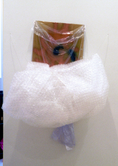 Senga Nengudi – Wet Night, Early Dawn, Scat-Chant, Pilgrims Song - Senga Nengudi, Early Dawn, 1996. Bubble wrap, dry cleaner's plastic bag, spray paint on paper, 5 x 4 ft.