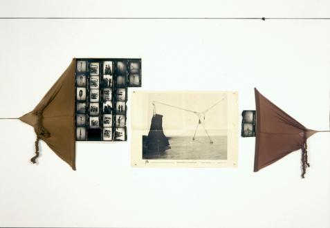 Senga Nengudi – Répondez s'il vous plaît - Installation view: Senga Nengudi, Répondez s'il vous plaît, exhibition poster from Just Above Midtown Gallery, 1977.