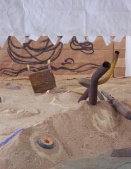 Senga Nengudi – Asp-Rx - Installation view (detail): Senga Nengudi, Asp-Rx, 2005.