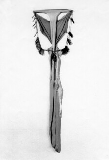 Nylon Mesh - <i>Ritual Chant</i>, 1977 (original piece/documentation) Nylon mesh, spring and metal parts, 5 x 1 feet.