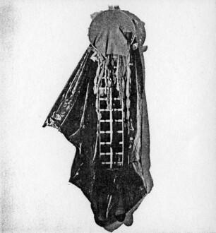 Nylon Mesh - <i>Untitled</i>, 1977 (original piece/documentation) Nylon mesh, found objects 2.5 ft x 22 in x 10 in.