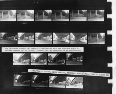 Performance Photographs - <i>Freeway Fets</i>, 1978. C-print, series of 11, 12 x 18 in each, edition of 5 (+1 AP).