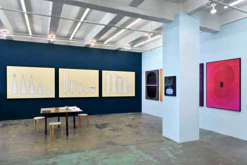 Beautiful Numbers - installation view, east and south walls.