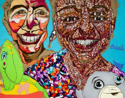 Schandra Singh – God Don't Like Ugly - Jean, 2014. Oil on linen, 84 x 108 in.