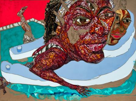 Schandra Singh – God Don't Like Ugly - Shelly, 2014. Oil on linen, 79 x 108 in.