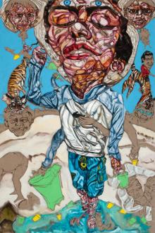 Schandra Singh – God Don't Like Ugly - Shiva, 2014. Oil on linen, 108 x 72 in.