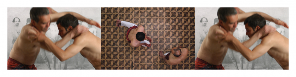 Looped and Layered – Contemporary Art from Tehran - Sadegh Tirafkan Sacrifice, 2003. 3 channel video, looped, approx. 7 min.