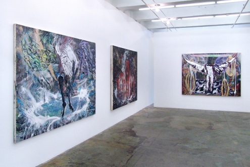 Shanna Waddell – (it's like) roadside stuffed animals - Installation view, west and north wall.