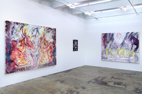 Shanna Waddell – (it's like) roadside stuffed animals - Installation view, east and south wall.