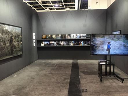 Newsha Tavakolian Art Basel Hong Kong - Installation view, <i>Blank Pages of an Iranian Photo Album</i>, 2016, Art Basel Hong Kong.