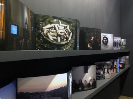 Newsha Tavakolian Art Basel Hong Kong - Installation view: Newsha Tavakolian, <i>Blank Pages of an Iranian Photo Album</i>, Art Basel Hong Kong, 2016.