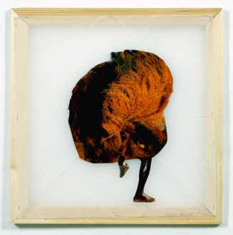 Mike Cloud - <i>Blurry Dance</i>, 2004, Collage on vellum with stretcher bars, 20 x 20 inches