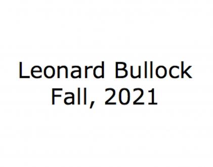 Leonard Bullock - Thomas Erben Gallery