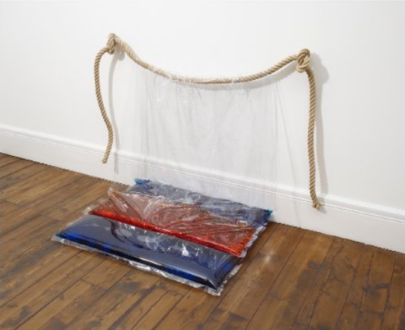 Water Compositions - <i>Water Composition III</i>, 1970 (2018) (Water Compositions) Heat sealed vinyl, rope and colored water 35 ⅞ × 47 ¼ × 28 ¾ inches (91.12 × 120.02 × 73.03 cm) Edition of 2 plus I AP