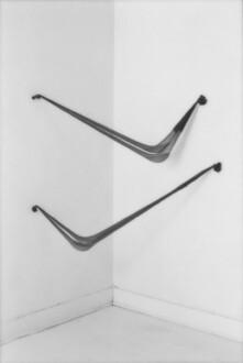 Nylon Mesh - <i>Swing Low</i>, summer 1976 (original piece/documentation) Nylon mesh and sand, 4.5 x 4 feet. Recreated in 2014.