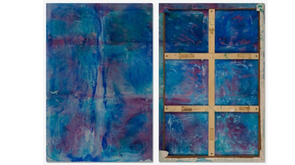 Dona Nelson – Double sided paintings - <i>April</i>, 2008. Acrylic and acrylic medium on canvas, 90 × 60 in.
