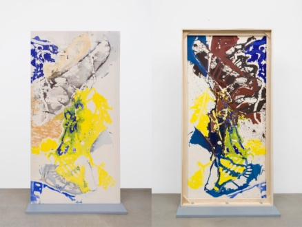 Box Paintings - <i>Federal Yellow</i>, 2019. Acrylic on canvas (double sided) 79 × 41 in.