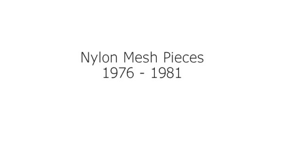 Nylon Mesh - Thomas Erben Gallery