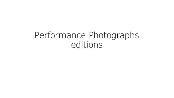 Performance Photographs - Thomas Erben Gallery