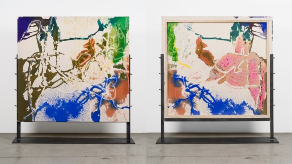 Dona Nelson – Double sided paintings - <i>Ample Space</i>, 2019. Acrylic on canvas, 56 1/2 × 59 1/2 in.