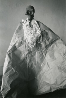 Performance Photographs - <i>Study for 'Mesh Mirage'</i>, 1977. B/W silver gelatin print, 40 × 26 ⅝ in.