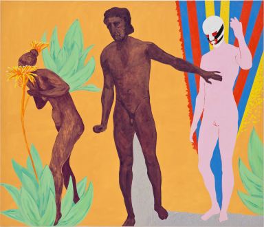 Los Angeles Bound – Diedrick Brackens, Thomas Lawson, Tiffany Livingston, Mark Roeder - Thomas Lawson, Stop: DoNotGoOn, 2011. Oil on canvas, 72 x 84 inches