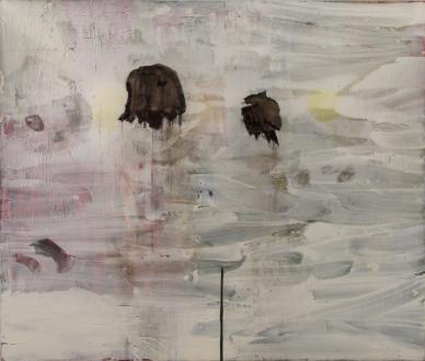 Los Angeles Bound – Diedrick Brackens, Thomas Lawson, Tiffany Livingston, Mark Roeder - Tiffany Livingston, Post, 2016. Oil on canvas, 72 x 96 inches